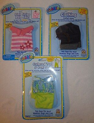Webkinz Ganz Clothing Jeans Pink Shirt Pant Set - Lot of 3 - New