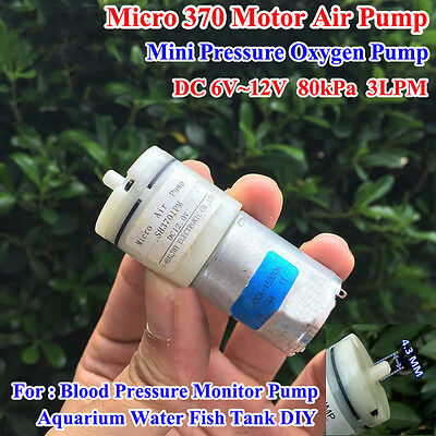 DC 3V-12V 5V 6V Small Mini 370 Motor Air Pump Oxygen Pump Aquarium Fish Tank DIY