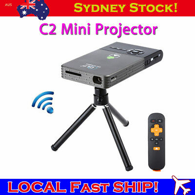 C2 Mini Android4.4 Portable DLP Home Theater Projector 1080P Bluetooth 4.0 DLP50