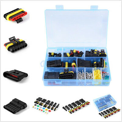 Waterproof Car 1/2/3/4/5/6 Pin Way Wire Electrical Connectors Terminal Fuses Kit