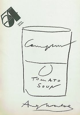 Andy Warhol drawing of Campbell's Soup on Studio 54 Headed paper