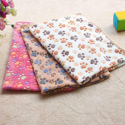 Hamsters Pad Blanket Pet Cat Mat Dog Puppy Warm Bed Paw Pattern Cover S-XL