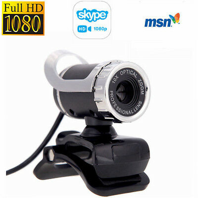 360°Full HD 12MP 1080P Webcam Network Camera with Built-in Mic for PC Desktop AU