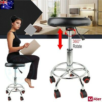 Salon Hairdressing Styling Round Chair PU Swivel Lift Stool Barber Massage TOP