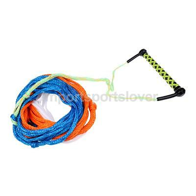 Professional Water Ski Wakeboard Boat Tow Rope Slalom Trainer 3 Sections 23m