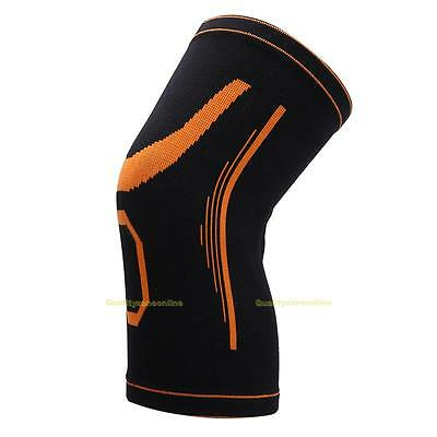 2Pcs Knee Brace Elastic Muscle Support Compression Sleeve Sport Pain Relief New