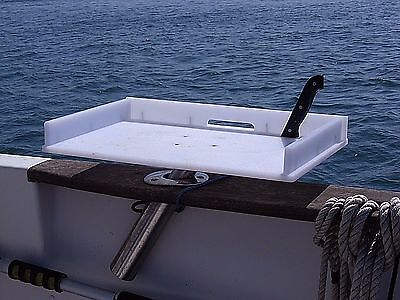 Boat Bait / Filleting / Multiple use Table that just slides into your Rod Holder