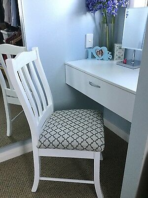 White occasional dining dressing table chair collect for Dining table dressing