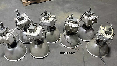 400w High Bay (7) and Low Bay (11) Industrial Lighting, selling as a lot