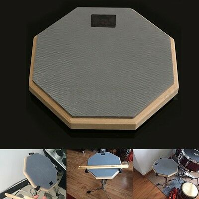 8'' Soft Black Dumb Drum Pad Exercise Mat Blow Plate Drummer Rubber Double Side