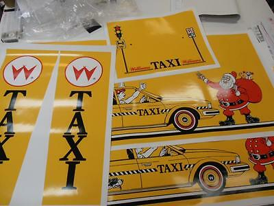 Williams Taxi Pinball Full Cabinet Decal Set NEXT GEN PRINTING : Mr Pinball