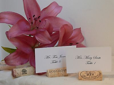 100 Used Natural Wine Cork Place Card Holders for Vineyard Wedding
