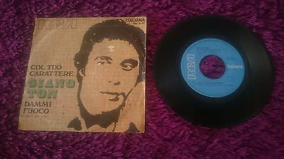 "Giano Ton ‎– Col Tuo Carattere , Vinyl, 7"", 1970 , Italy ,  PM 3535"
