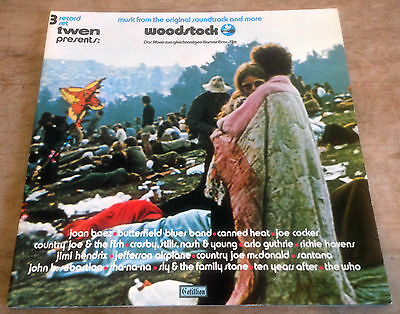 WOODSTOCK original soundtrack 1970 GERMAN COTILLION*ATLANTIC STEREO VINYL 3LP