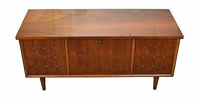 Vintage Mid-Century Modern Paneled Front Lane Cedar Chest LOCK REPLACED