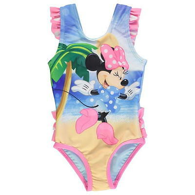 Disney Baby Girls Minnie Mouse Swimsuit Swimwear Swim Swimming Costume Beach Bow