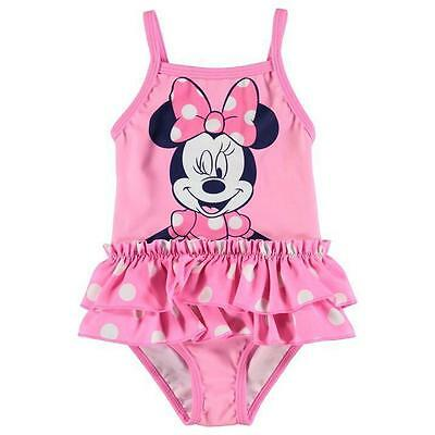 Disney Baby Girls Minnie Mouse Pink Swimsuit Swimwear Swimming Swim Costume