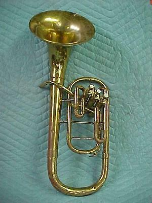Vintage Gretsch Commander/Conn Stencil Alto Horn in Good Playing Condition