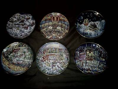 "McDonalds - Hamilton Collection - ""Through The Times"" Series of Six (6) Plates"