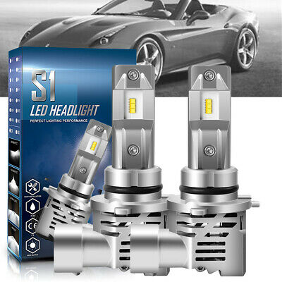 2x CREE 200W 20000LM HB3 9005 COB LED Headlight Kit Bulbs 6500K Single High Beam