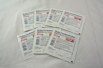 New Loose GSMS Step 1 7 Clear Patches 21 mg per patch Exp Oct/2017