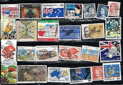 (11-384 ) 24 Assorted  Cancelled  Postage Stamps from Australia