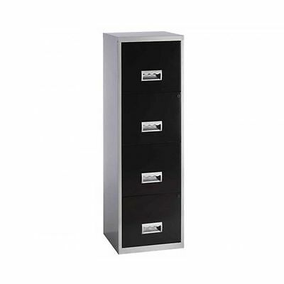 Office Metal Filing Cabinet 4 Storage Drawers Lockable Stationary Home Furniture