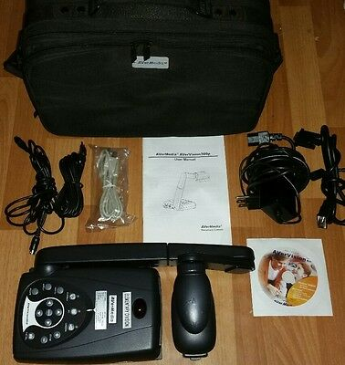 AVERMEDIA AVERVISION 300P PORTABLE DOCUMENT CAMERA PROJECTOR W/ Manual, Bag +++