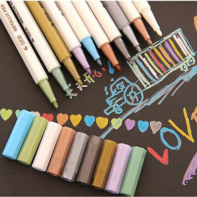 10pcs Mixed Permanent Marker Pens Sharpie Painting Pencil Fine Point Waterproof