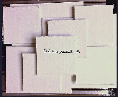 Lot of 10 Blank White Art Painting Canvas Panels 100% Cotton! Primed & BRAND NEW