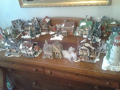 Dept 56 New England Village entire 32+ piece collection