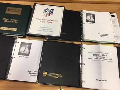 Wade Cook Seminar Workbooks- Wall Street Work shop 3-ring binders series - 73a