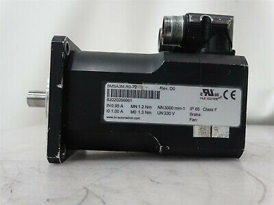 BR Automation 8MSA3M.R0-72 Electric Motor IN 0.94A MN 1.2Nm NN 3000 min-1 IP65