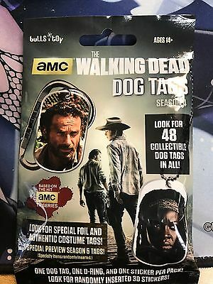 Walking Dead Dog Tags Season 4 Sealed Pack