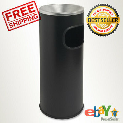 Commercial Trash Can Restaurant indoor Aluminum Fire Safe recycle Bin, Black