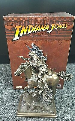 INDIANA JONES ON HORSE LIMITED EDITION BRONZE STATUE GENTLE GIANT! #1 Of 500