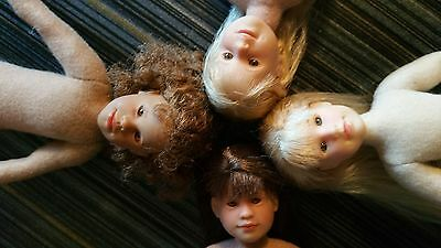 Only Hearts Club Dolls (lot #A8 of 4 nude dolls)~Taylor Angelique, Karina,  more