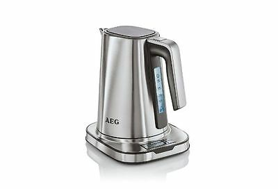 AEG Digital Electric Cordless Kettle, Stainless Steel 1.7L 2400w Fast Water Boil