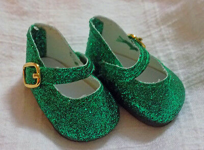 Red Glitter Mary Jane Shoes Fit American Girl Wellie Wishers Dolls H4H