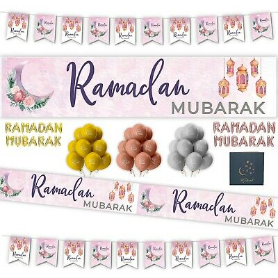 RAMADAN MUBARAK Party Decorations, Banners, Ramadhan Flags, Chains, Buntings