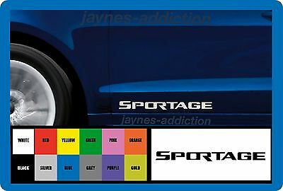 SPORTAGE for KIA - 2 x DOOR - VINYL CAR DECAL STICKER ADHESIVE - 300mm long