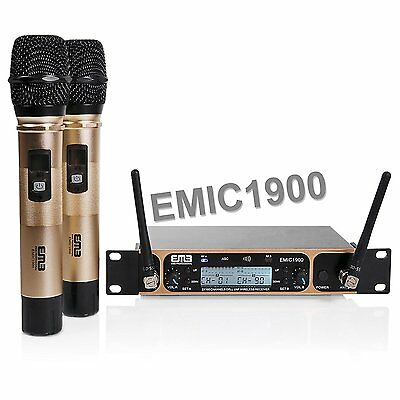 New Emb 1900 Gold Series Dual Professional Wireless Karaoke Microphone System