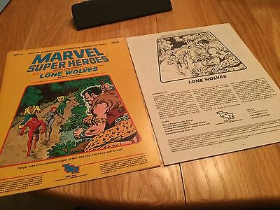 Marvel Super Heroes TSR 6859 Lone Wolves RPG MH-4 With Map