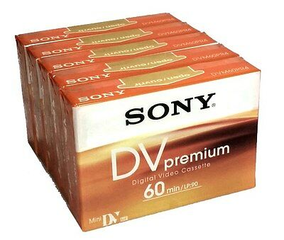 5 PACK SONY DVM60PR4 Mini DV Camcorder Cassette Tape (MiniDV) Free Oz Delivery