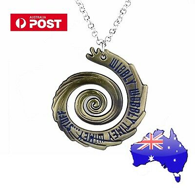 Dr Who Doctor Who WIBBLY WOBBLY TIMEY WIMEY Vortex bronze Pendant Necklace