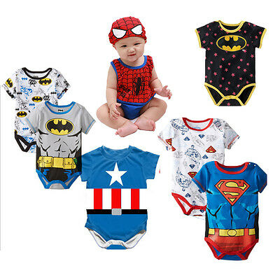 1pc baby boys infant toddler clothes summer bodysuit one piece superbaby cool