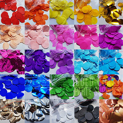 50+ Colours Confetti Balloons Big 3.8Cm Tissue Metallic Rose Gold Party Wedding