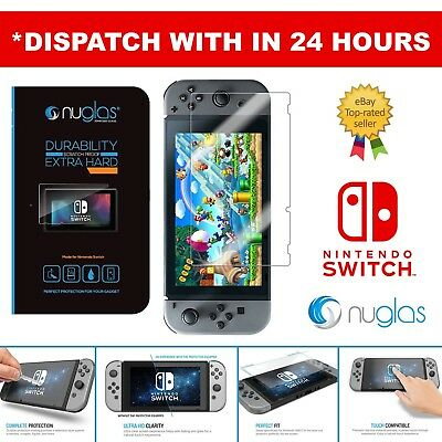 Nuglas Nintendo Switch Tempered Glass Screen 9H Protector for Nintendo Switch