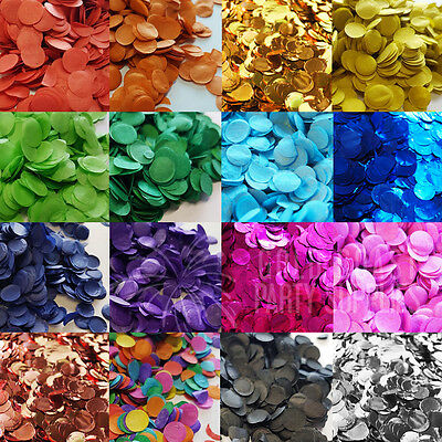 40+ Colours Confetti For Balloons 1Cm Tissue Metallic Rose Gold Birthday Wedding