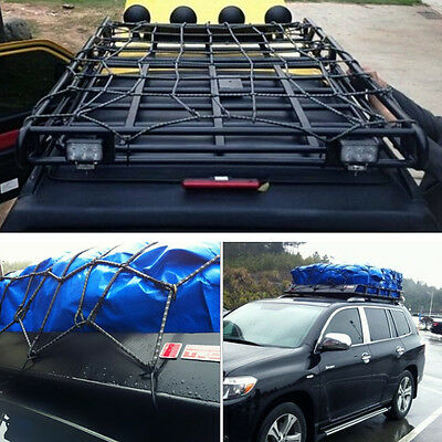Car Roof Tray Platform Racks Carry Box Luggage Carrier Basket Secure Cargo Nets